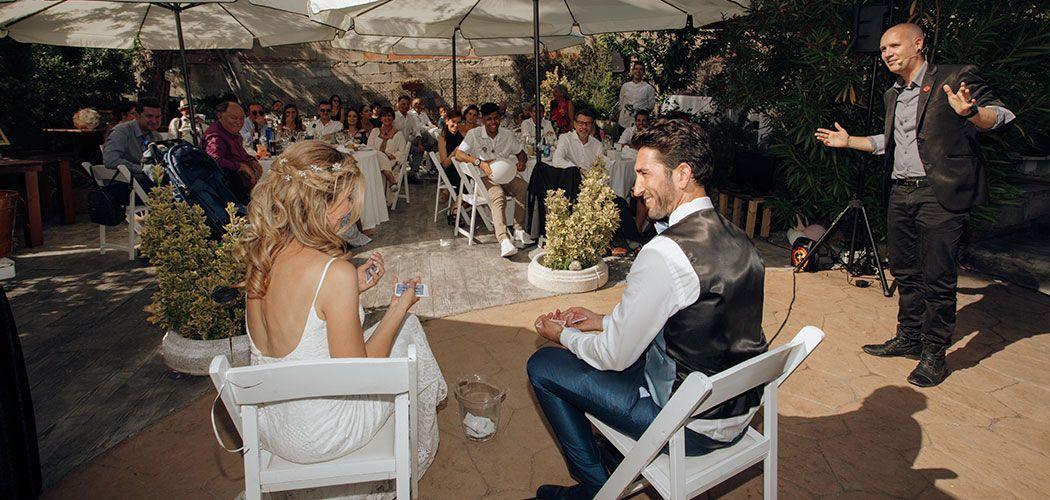 magia de salon en boda